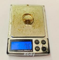 Superb 18ct Rose Gold Talbot Intaglio Seal Ring Heavy 7.8g
