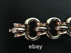 Tiffany & Co Vintage Estate Heavy 14K Yellow & Rose Gold UNIQUE Link Bracelet