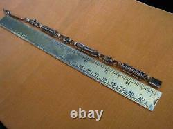 Victorian INDUSTRIAL REVOLUTION 14K Rose Gold HEAVY WATCH CHAIN Now 9 Bracelet