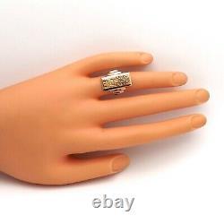 Vintage 18k Rose Gold Peruvian Tumi Warrior Ornate Heavy Solid Ring 10gr sz6