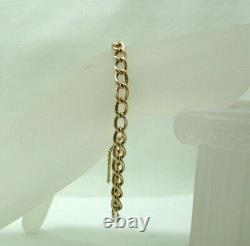 Vintage / Antique Gents / Ladies Heavy 9 carat Rose Gold Albert Bracelet