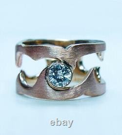 Vintage De Beers Diamond Solitaire Ring 18K Rose Gold Designer Heavy. 48ct