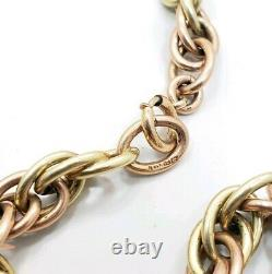 Vintage Sterling Silver 925 Rose Yellow Gold Wash Heavy Choker Necklace