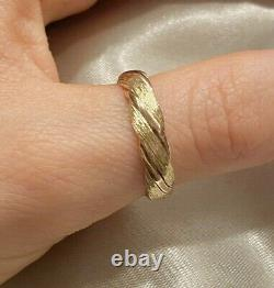 Vintage quality heavy 9ct 9k yellow rose Gold Band Ring 3.6g O 1/2