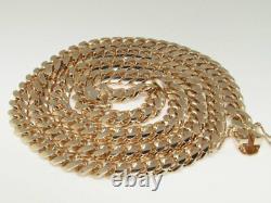 14k Rose Gold Heavy Solid Franco 9.5 MM 28 Pouces Miami Cuban Necklace 192.2 Grammes