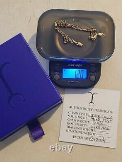 14k Rose Or Jacoje 7.5inch 4mm Bracelet De Lien Lourd