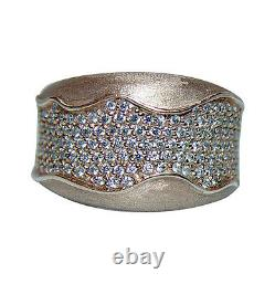 14k Rose Rose Gold Diamond Pave Ring Band 1ct Heavy