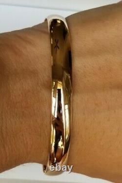18k Rose Gold Bangle Bracelet 24g Ippolita Lourd 0,3 7,75 $ 4195 Pdsf