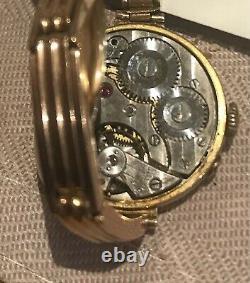 1915 Belle Tout Solide 9ct Rose Gold Ladies Bracelet Wristwatch. Or Lourd