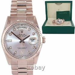2016 Rolex President Day Date Rose Gold 36mm 118235 Diamant Montre Boucle Lourde