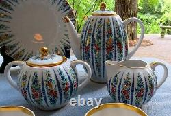 24 Pc Vintage Lomonosov Sarafan Dessert Set Urss / Russie Roses & Heavy Gold