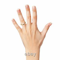 2mm 9ct Jaune Rose Blanc Solide Or Rond Halo Anneaux De Mariage Uk Hm Heavy Bands