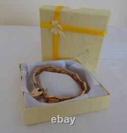 9 Ct Rose Gold Fancy Link Heavy Bracelet