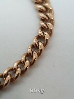 9ct Rose Gold Albert Chain Stamped Every Link Heavy 43 Grammes