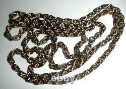 Antique 20kt Rose Gold Fancy Link Endless Chain Unisex Heavy 28.1g Cadeau Parfait