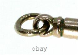 Antique 9ct Rose Gold Dog Clip Heavy Duty Albert Chain Fastener Edouardian Ère
