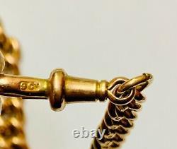 Antique 9ct Rose Gold Double Albert Chain Circa 1900 Heavy 42.8g