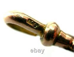 Antique Rose Gold 9ct Dog Clip Heavy Duty Swivel Albert Chain Attache Edwardian