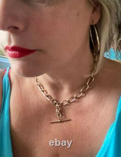 Antique Victorienne 9ct Rose Gold Heavy Albert Chain