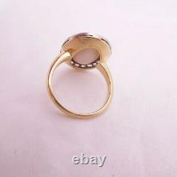Bague En Diamant Taille Rose Opale En Or 18ct, Grand Art Déco