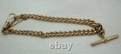 Beau Bracelet Albert Heavy 9ct Rose Gold
