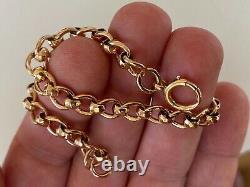 Bracele D'ouverture De La Vinture Link Solide D'ouverture 9ct Bracelet D'ouverture D'ouverture 13,5 Grams
