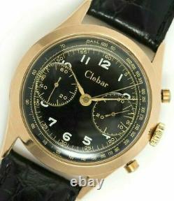 Clebar Landeron 51 Vintage Chronographe Tachymètre Rare Recherché Lourd Or 18k