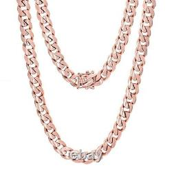 Collier 10k Rose Gold Solid Heavy Cuban Link Chain Collier 22 10mm 142 Grammes