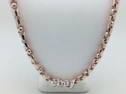 Collier 14k Rose Gold Solid Heavy Bullet Style Chain Collier 24 6mm 87,1 Grammes