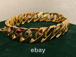 Collier De Chaîne De Chien De Luxe En Acier Inoxydable Grand Grand Chien Lourd Service 1,25 Large