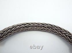 Designer 9k Rose Gold Sterling Silver Heavy 9mm Wheat Chain Choker Collier 154g