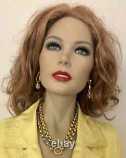Exquise 14k Or Jaune 36 Collier Chaîne Lourde Avec Rose Quartz Perle Italie
