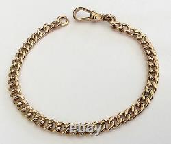 Fabulous Ladies Heavy Antique Rose 9ct Gold Solid Bracelet Timbres Tous Les Liens