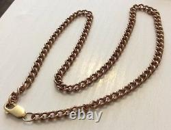 Fabulous Quality Vintage Very Heavy 9 Carat Red Rose Gold Neck Chain Superbe