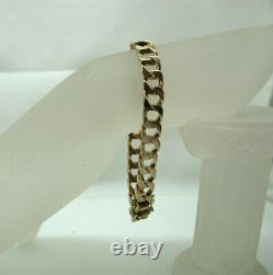 Gents Very Heavy 9 Carats Rose Or Square Curb Lien Bracelet