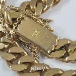 Heavy 18k Rose Gold 9mm Cuban Link Bracelet 8 52.1grams Mens Womans