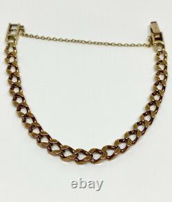Heavy 9 Carat Solid Rose Gold Curb Link Bracelet, 20,5 Grammes