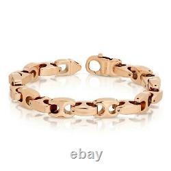 Heavy Biker Tungsten Carbide Bracelet 9.5mm / Collier Rose Gold Livraison Gratuite