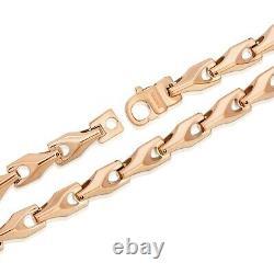 Heavy Biker Tungsten Carbide Collier Rose Gold Livraison Gratuite