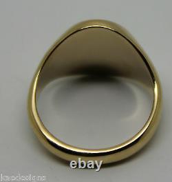 Heavy Solid 9ct Blanc Ou Rose Ou Or Jaune Signet Ovale Taille De Bague L, M, N Ou O