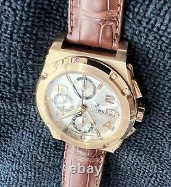 Homme Festina Shockwave 18k Solid Rose Gold Montre Chronographe Lourd Eta 7750
