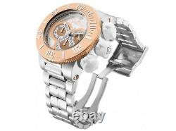 Invicta Homme 31539 Subaqua Chronographe Silver Rose Gold Heavy Oversize Watch