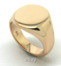 Kaedesigns Full Solid Heavy Nouveau 9ct Rose Gold Oval Signet Ring Size H