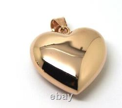 Kaedesigns Genuine 9ct 9ct Extra Heavy Large Bubble Rose Gold Heart Pendentif