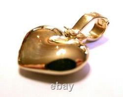 Kaedesigns, Genuine 9ct Heavy Full Solid Rose Gold Heart Pendentif Avec Enhancer