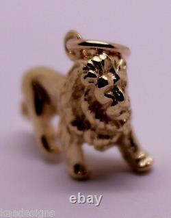 Kaedesigns, Lourd 3d 9ct Jaune Ou Rose Ou Blanc Lion De Charme Or Pendentif