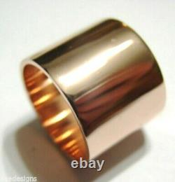 Kaedesigns New Genuine 18 Grams Heavy 9ct Rose Gold Solid 16mm Wide Band Ring