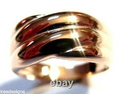 Kaedesigns New Genuine 9ct Rose Gold Heavy Dome Ring Taille T