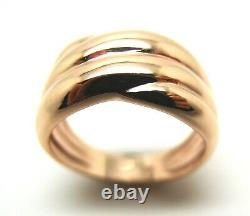 Kaedesigns New Véritable 9ct 9kt Full Solid Rose Gold Heavy Dome Ring 213
