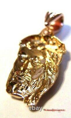 Kaedesigns Véritable Lourd 9ct Rose Pendentif D'or Jésus Religieux